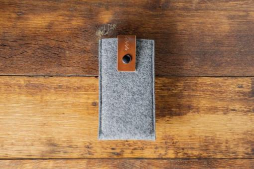 iPhone 6s Handmade Felt Case with Brown Leather