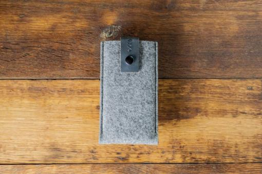 iPhone 6s Handmade Felt Case with Grey Leather