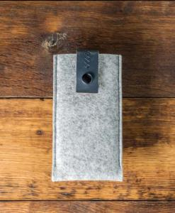 iPhone 6s Handmade Light Felt Case with Grey Leather