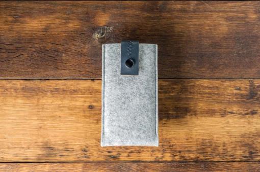 iPhone 6s Handmade Light Felt Case with Grey Leather