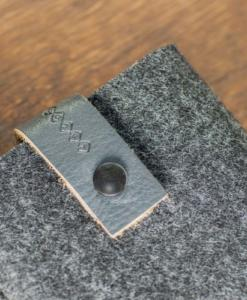 Kindle Handmade Dark Felt Case with Grey Leather