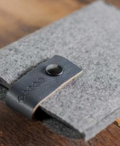 Kindle Handmade Felt Case with Grey Leather
