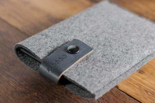 Kindle Handmade Felt Case with Grey Leather
